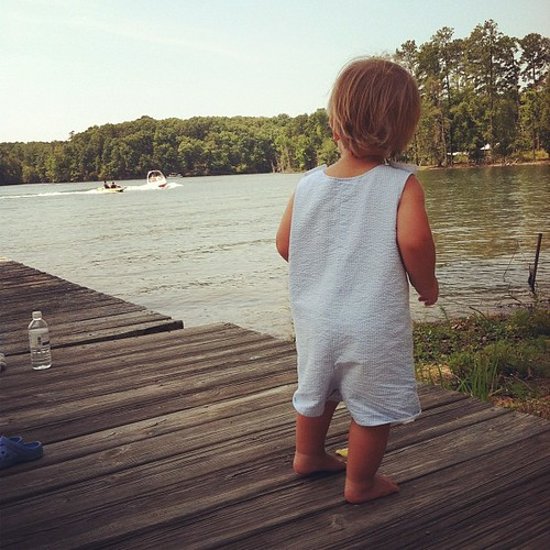 You'll get to play on the lake one day buddy...but not just yet!