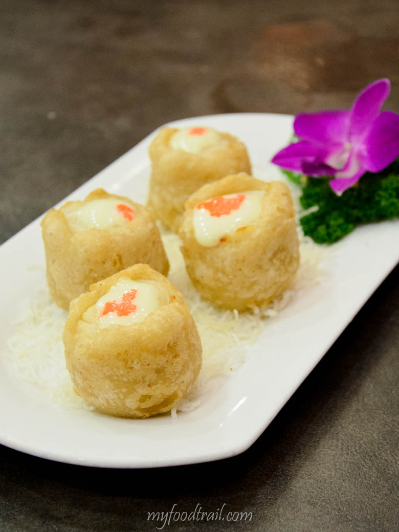 Long Beach Restaurant Singapore - Deep fried scallops in mini yam rings