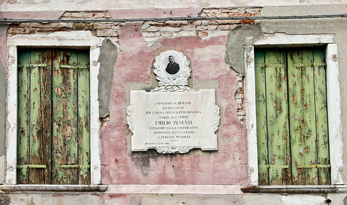 Burano, Commemorative Plaque