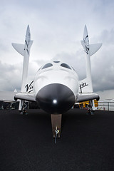 Virgin Galactic Full Size SpaceShipTwo Replica makes Star Appearance at Farnbrough Airshow