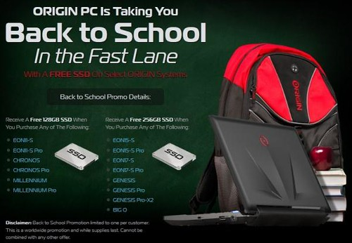 ORIGIN PC Back To School