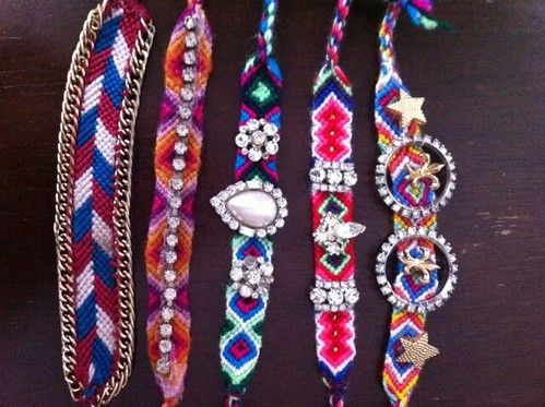 handmade embellished friendship braceletes