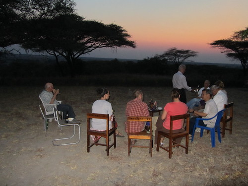 Watching the sunset in Dan's backyard at Ndoleleji