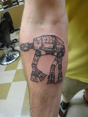 AT-AT Tattoo by RedandJonny