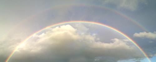 無料写真素材, 自然風景, 空, 雲, 虹