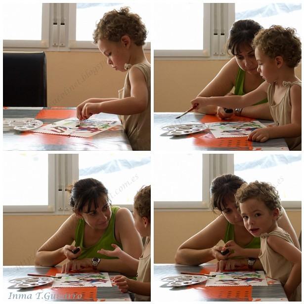 Pintando y probando mando