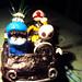 Quatro amigos em seu carro