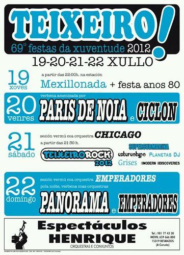 Curtis 2012 - 69 Festa da Xuventude de Teixeiro - cartel