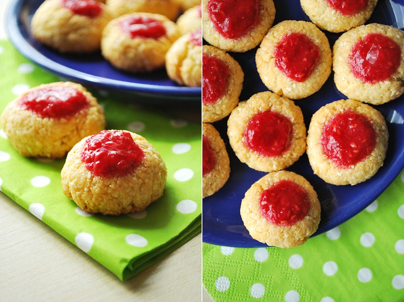 gluten free cookies with raspberry mousse