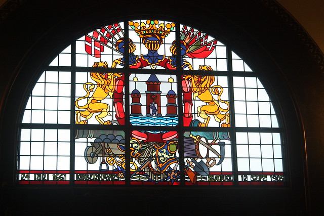 Stain glass in City Hall