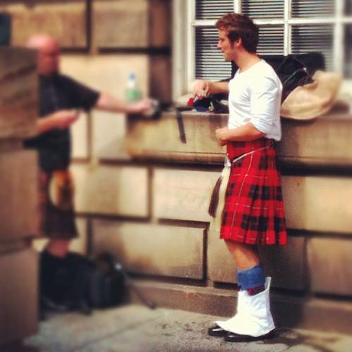 Scottish boy in Edinburgh