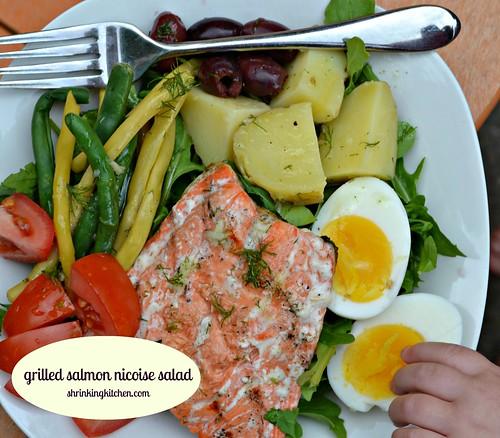 Grilled Salmon Nicoise Salad Shrinking Kitchen