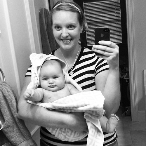 {Day 23} post-bath, in the #mirror #julyphotoaday