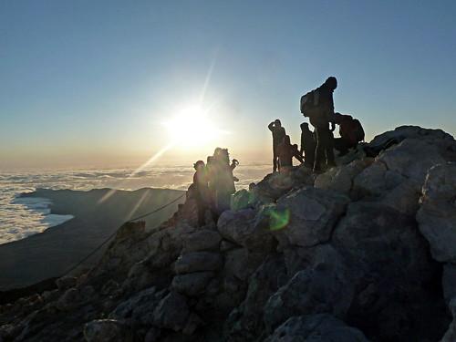 On summit of Mount Teide