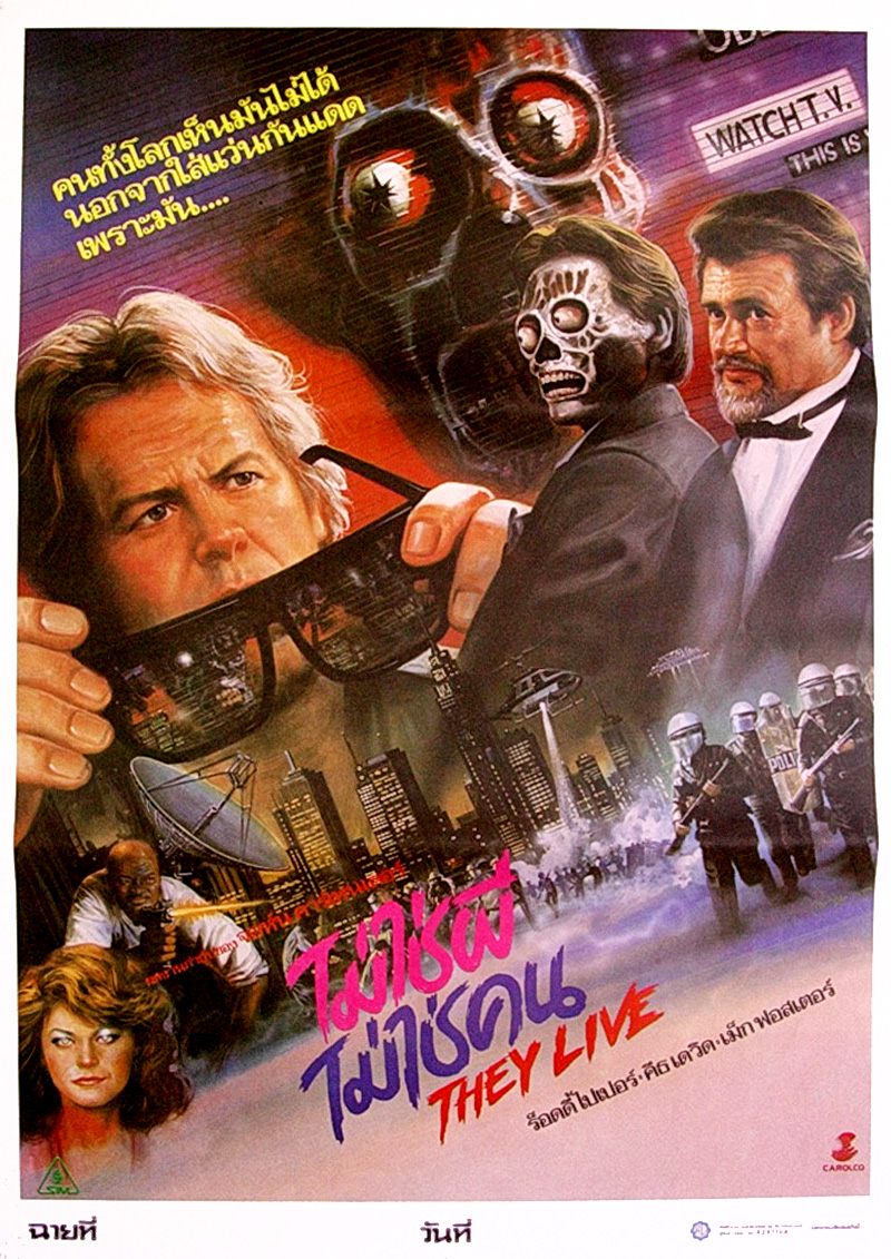 They Live 1988 (Thai Film Poster)