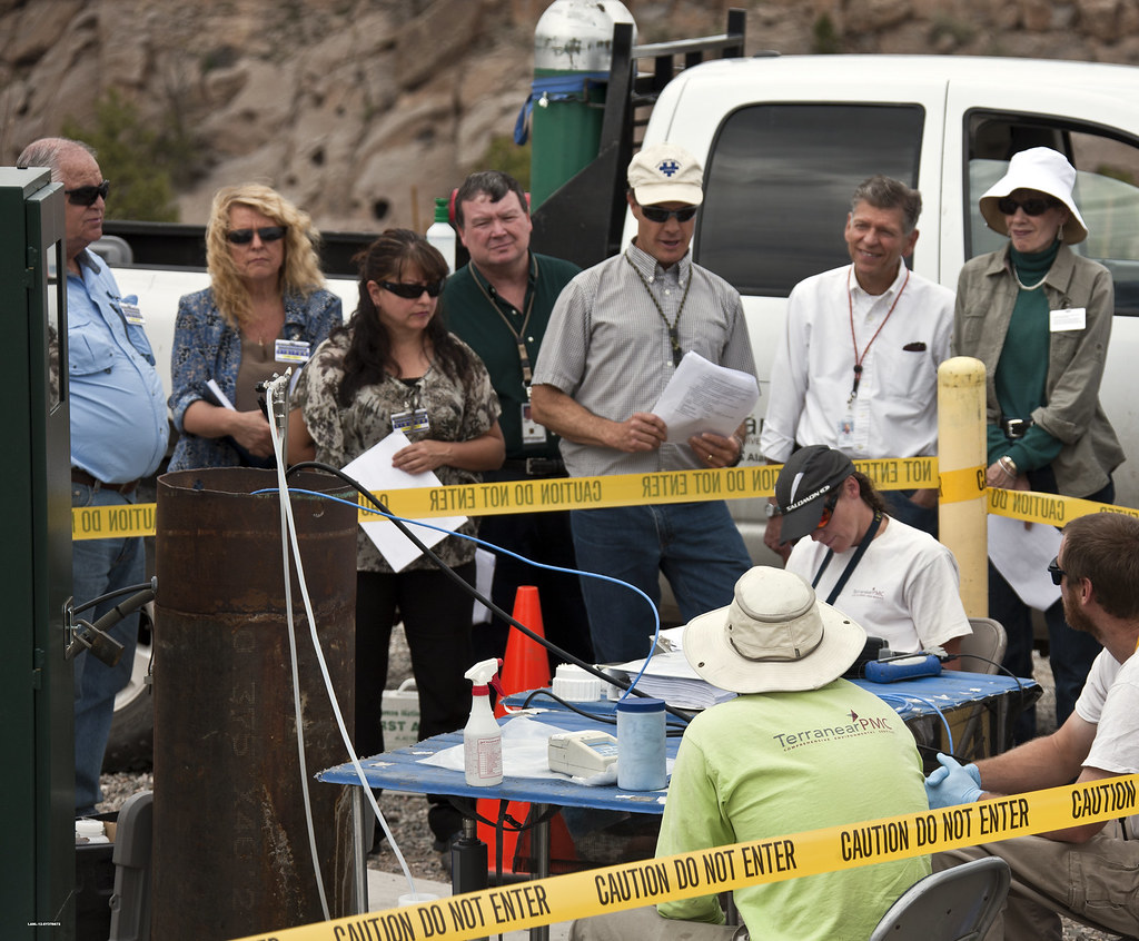 Quarterly Groundwater monitoring attended by LANL managers and the Northern New Mexico Citizens Advisory Board