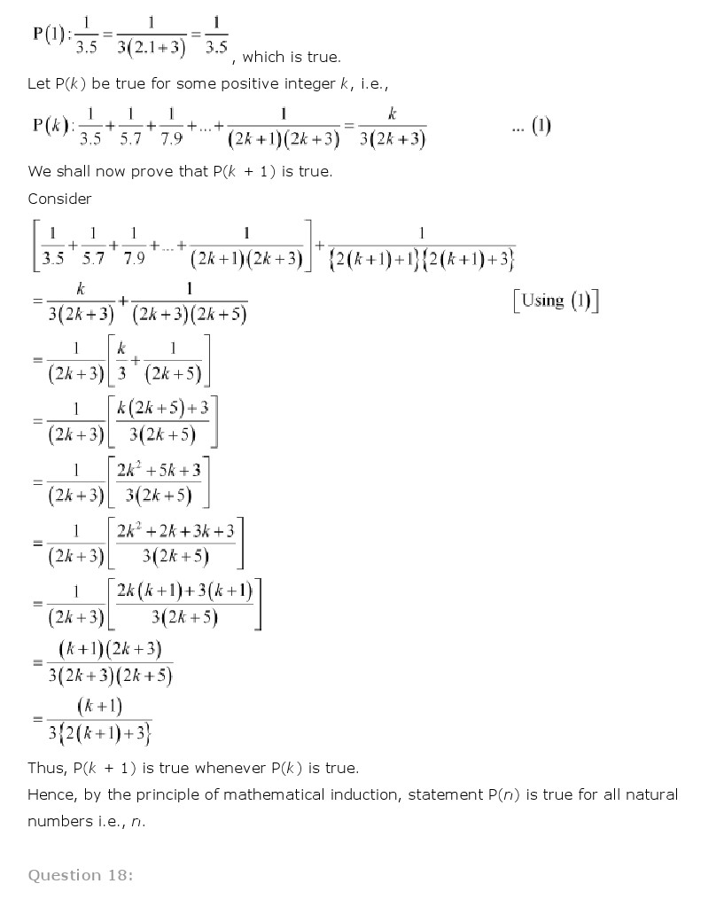 NCERT Solutions for Class 11 Maths Chapter 4 - Principle of Mathematical Induction