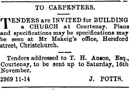 Tenders for St Matthew's Church
