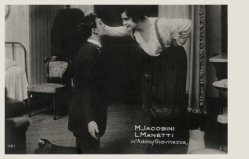 Maria Jacobini and Lido Manetti in Addio giovinezza