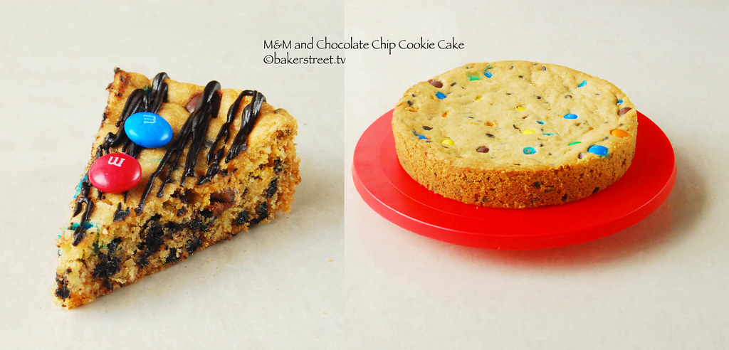 Baker Street | M&M and Chocolate Chip Cookie Cake