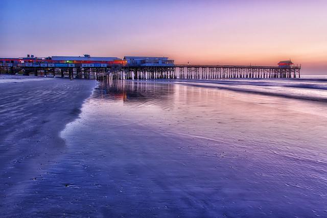 Cocoa beach pier reflection cocoa beach pier reflection for Cocoa beach pier fishing