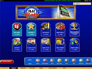 All Slots Casino Lobby