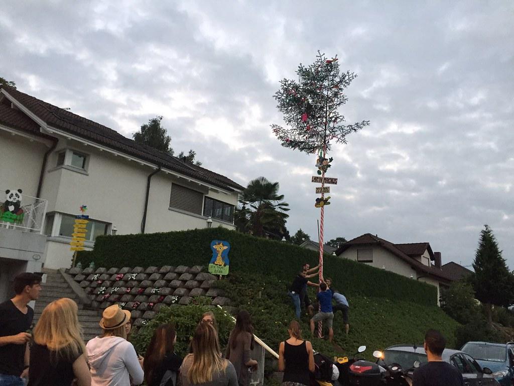 Bäumli stellen für Lorin Magnus August 2016