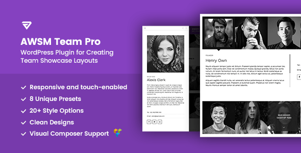 The Team Pro v1.1.0 - Team Showcase WordPress Plugin