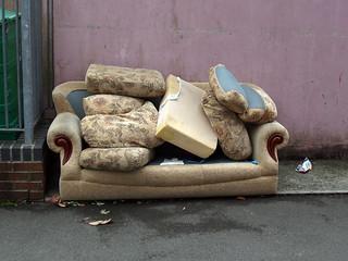 abandoned sofa