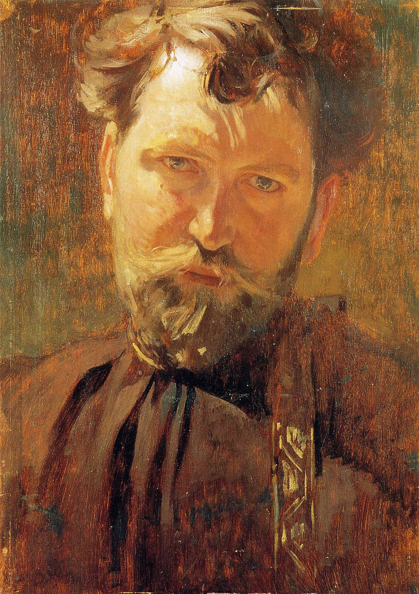Alphonse Mucha Self Portrait, 1899