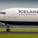 Icelandair 767-300ER thundering down the runway on it's way to Keflavik
