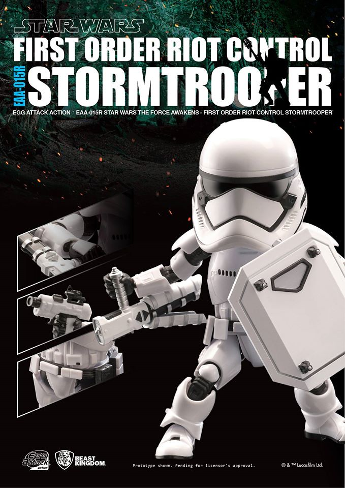 野獸國 Egg Attack Action 系列【第一軍團鎮暴突擊兵】STAR WARS:原力覺醒 Riot Control Stormtrooper EAA-015R