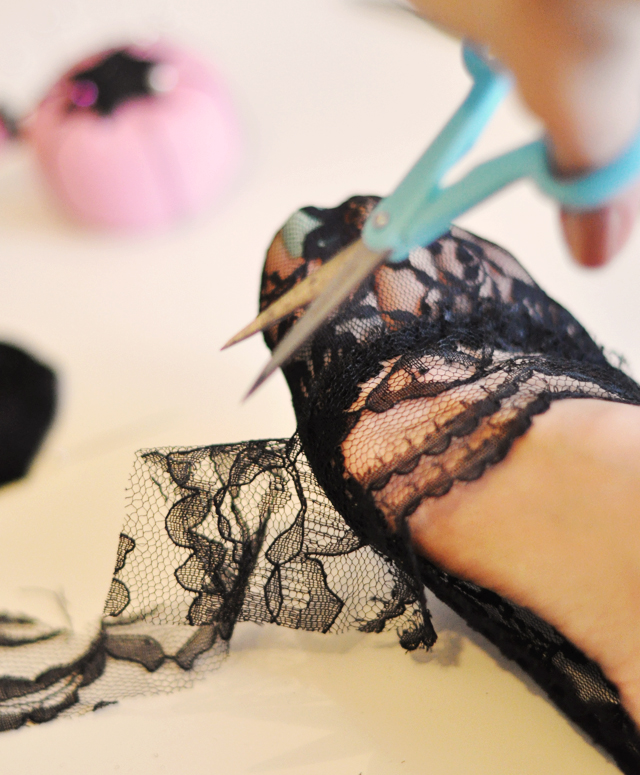 DIY black lace socks socklets-1
