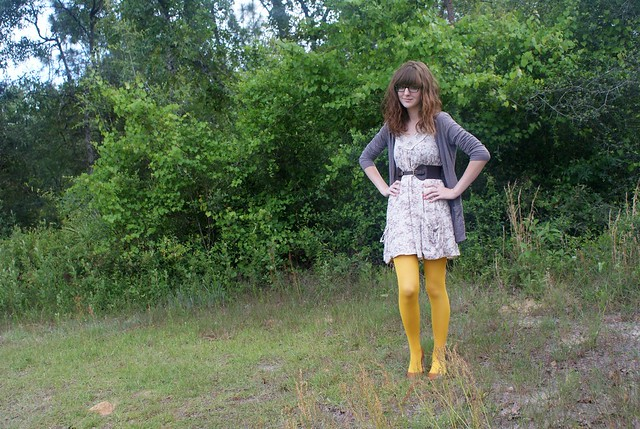 mustard tights two