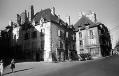 Street view in Mauriac, Cantal, France