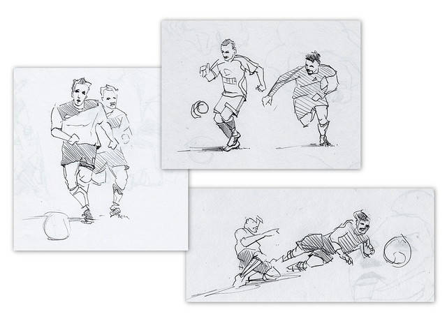 Weekend Artifact 14 - Soccer sketches