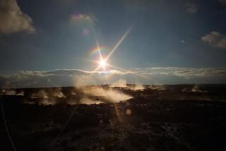 steam vents, Haleaumaumau Crater, Big Island of Hawaii