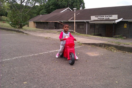 126/366: Thanda on her new bike
