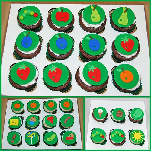 Very Hungry Caterpillar Baby Shower Cupcakes