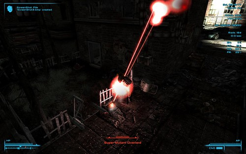 Fallout 3 Tactics - gatling laser shoots backward 2