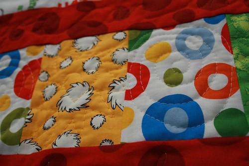 Dr. Seuss quilt - Trees & spots