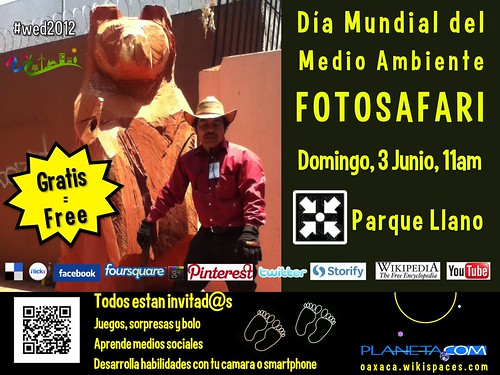 Free Poster for 2012 World Environment Day Oaxaca Photo Safari #wed2012 #wedchallenge #qrcode #oaxacatoday @UNEP