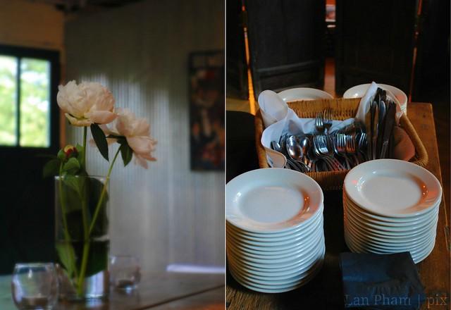 vase + utensils