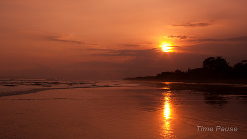 sunset bali indonesia