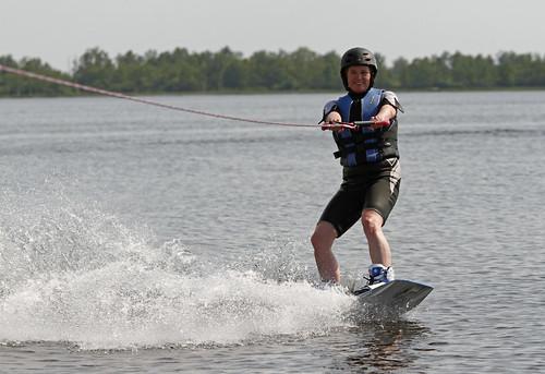 Aafke wakeboarden