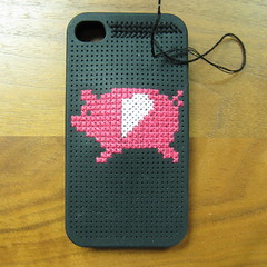 Iron Craft Challenege #10 - Flying Pig Cross Stitch
