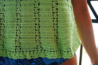 Crochet top from French pattern