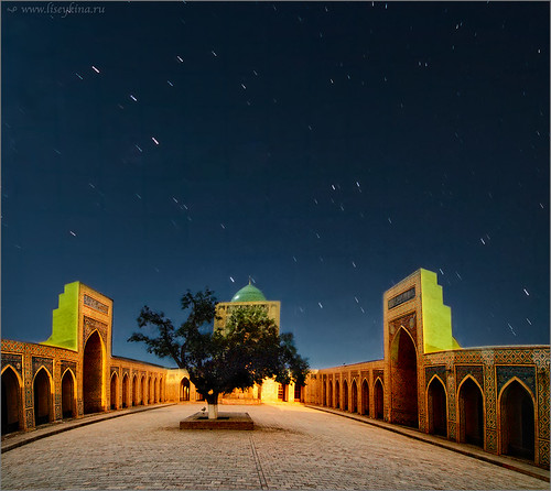 sky night sunrise uzbekistan khiva startrail hdtr xorazm