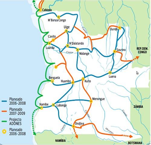 Angola - Angola Telecom Network Map