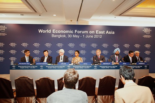 Participants in Co-Chairs Opening Press Conference - World Economic Forum on East Asia 2012